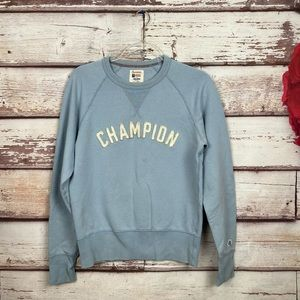 Champion todd snyder letter sweatshirt blue